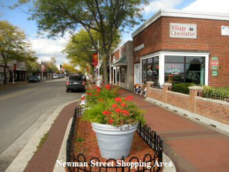Newman Street Shopping District