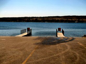DNR Boat Launch on Hubbard Lake 330 x 248