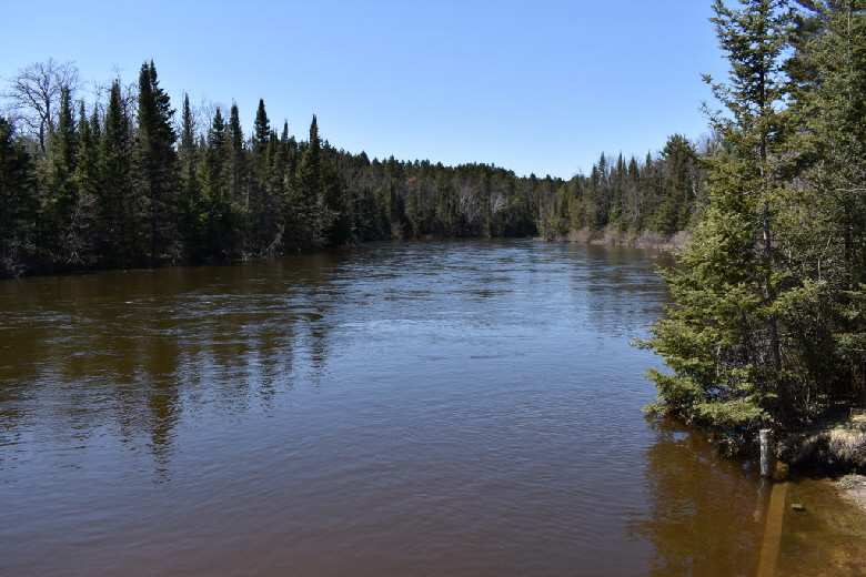 View of Au Sable River from Loud's Rest Stop
